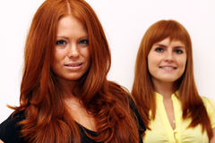 Red-haired girls Royalty Free Stock Photos