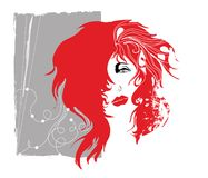Red-haired grunge woman Royalty Free Stock Photos