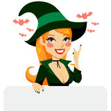 Red Haired Halloween Witch Royalty Free Stock Images