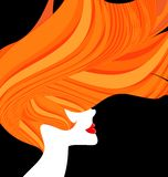 Red-haired head of a woman Royalty Free Stock Photo