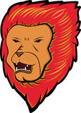 Red Haired Lion Cartoon. Wild Animal Character. Vector Illustration Stock Images