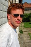 Red haired man. A close up of a red haired man Royalty Free Stock Photography