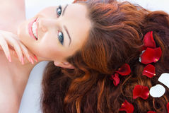 Red haired model in studio Stock Photography