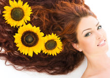 Red haired model in studio Royalty Free Stock Image