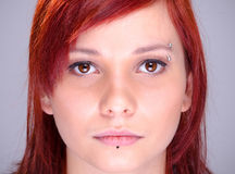 Red haired modern teenager portrait Stock Image