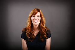 Red haired portrait. Portrait of a twenty-something red haired woman with added vignette Royalty Free Stock Photo