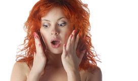 Red-haired pretty girl Stock Photography