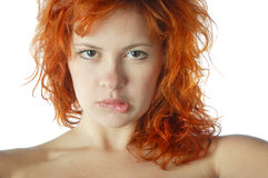 Red-haired pretty girl Royalty Free Stock Photos