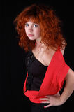 Red-haired pretty girl Royalty Free Stock Photo
