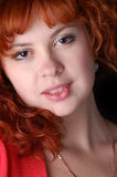 Red-haired pretty girl Stock Photo