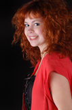 Red-haired pretty girl Royalty Free Stock Photography