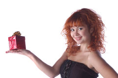 Red-haired pretty girl Royalty Free Stock Image