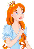 Red Haired Princess. Illustration of beautiful red haired princess Stock Images
