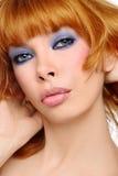 Red-haired Schönheit stockbild