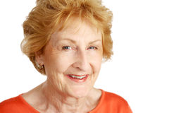 Red Haired Senior Closeup royalty free stock image