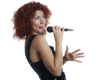 The red-haired singe Royalty Free Stock Photos