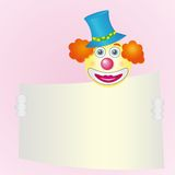 Red-haired smiling clown Royalty Free Stock Images