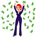 Red Haired Successful Business Woman Royalty Free Stock Image