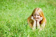 Red-haired teen girl Royalty Free Stock Images