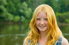 Red-haired Teenager Girl Stock Photo