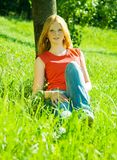 Red-haired Teenager Girl Stock Photos