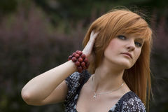 The red-haired teenager portrait Royalty Free Stock Image