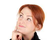 Red-haired trendy girl Royalty Free Stock Photo