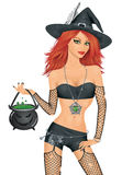 Red haired witch. Stock Image