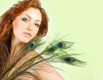 Red-haired woman Royalty Free Stock Image