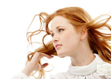 Red-haired woman Stock Photos