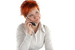 Red haired woman Stock Photos