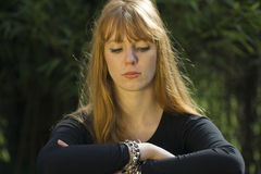 Red-haired woman Royalty Free Stock Photography