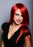Red haired woman Stock Photography