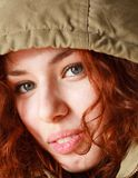 Red haired woman close up Royalty Free Stock Photos