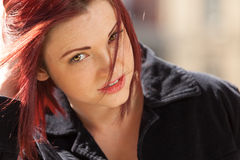 Red haired woman Royalty Free Stock Photography
