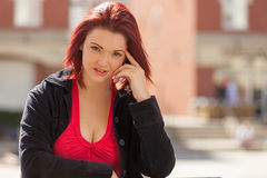 Red haired woman Stock Images