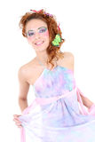 Red-haired woman in dress Stock Photography