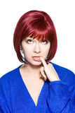 Red-haired woman expression - fantasy Royalty Free Stock Photo