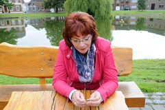 Red haired woman Royalty Free Stock Image