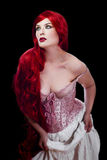 Red haired woman in lingerie Royalty Free Stock Images
