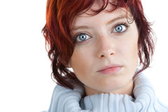 Red haired woman portrait Stock Image