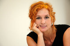 Red haired  woman Stock Photo