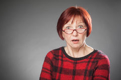 Red-haired woman, Portrait, Facial expression, amazed Royalty Free Stock Photo