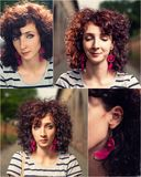 Red haired women portrait set Royalty Free Stock Photo