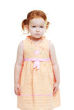 Red haired 3 year old little girl Royalty Free Stock Photos