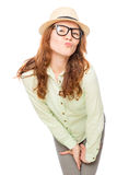 Red-haired young girl posing Stock Photography