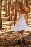Dancing red head Stock Photos