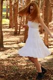 Dancing red head Royalty Free Stock Image