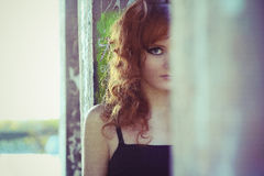 Red-haired young woman Royalty Free Stock Image