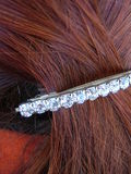 Red hairstyle detail Stock Image